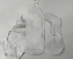 Collagierte Zeichnung, Fabio