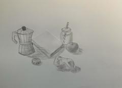 Collagierte Zeichnung, Laia