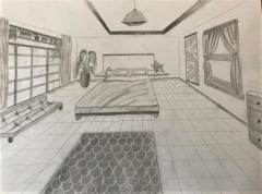 Die Fluchtpunktperspektive in der Zeichnung, Lenja